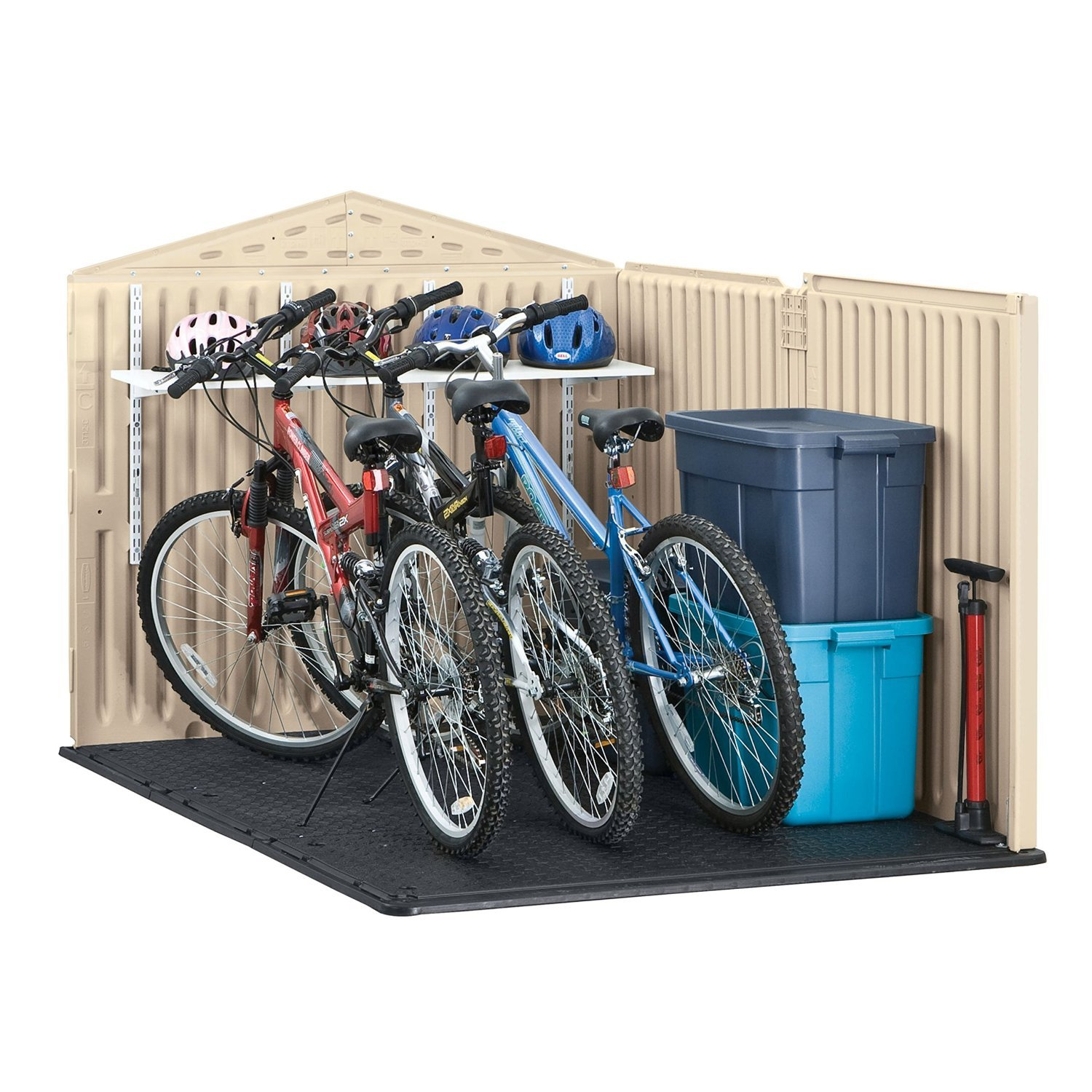 Ordinaire If Someone Wanted To Buy The Best Bike Storage Shed Out There, I Would  Recommend That They Buy The Rubbermaid Outdoor Slide Lid Storage Shed.