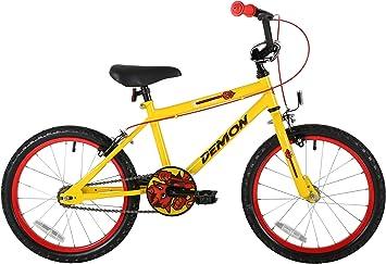 Rueda Sonic Demon para niños, bicicleta de 18 pulgadas, amarilla: Amazon.es: Deportes y aire libre