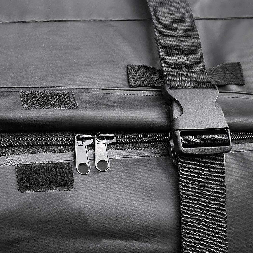 LUVODI Portaequipajes Baca Cofre Techo de Coche Bolsa Impermeable Plegable para Techo Caja de Almacenamiento para Viajes Veh/ículo Cami/ón SUV Furgonetas 112x86x43CM