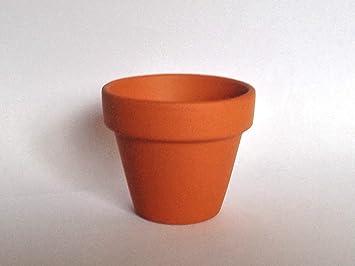 Mini Terracotta Flower Pots 48mm Amazoncouk Kitchen Home