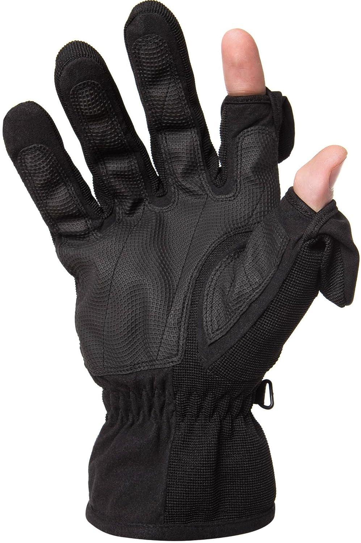 Pliant à doigt pointe Unisexe Technologie Thinsulate Gants–avec fermeture magnétique–Dos imperméable et coupe-vent, idéal pour le ski ou Photographie. Par Gants facile à enlever., M, 1