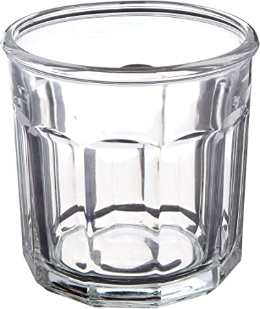 Set of 4 LUMINARC Working Glass clear Tumbler 10-PANEL 14oz double old-fashioned