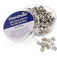 Eisenthaler 250 Ösen SET30-5.2 mm, vernickelt für 20-30 Blatt