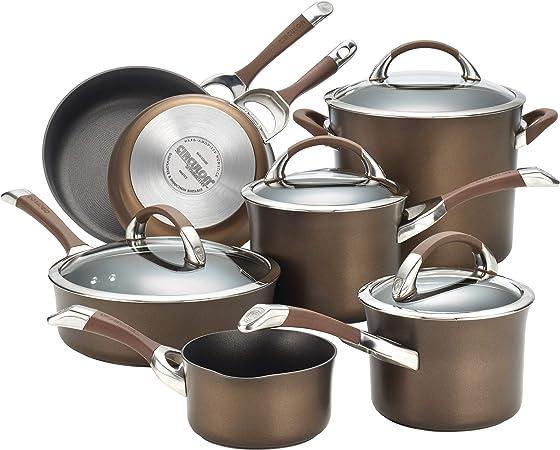 Circulon Symmetry Hard Anodized Nonstick Cookware 11-Piece Pots and Pans Set