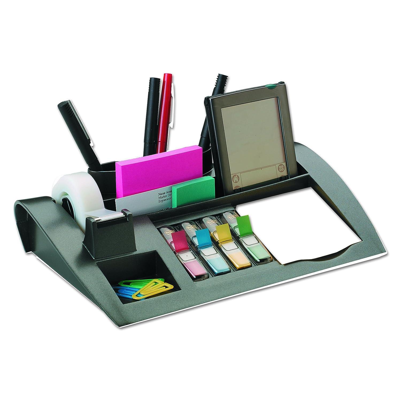 Amazon.com : Post-it Desktop Organizer, 12 x 8 x 3-Inches, Black : Pencil  Holders : Office Products
