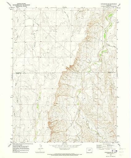 Strasburg Colorado Map.Amazon Com Colorado Maps 1969 Strasburg Co Usgs Historical