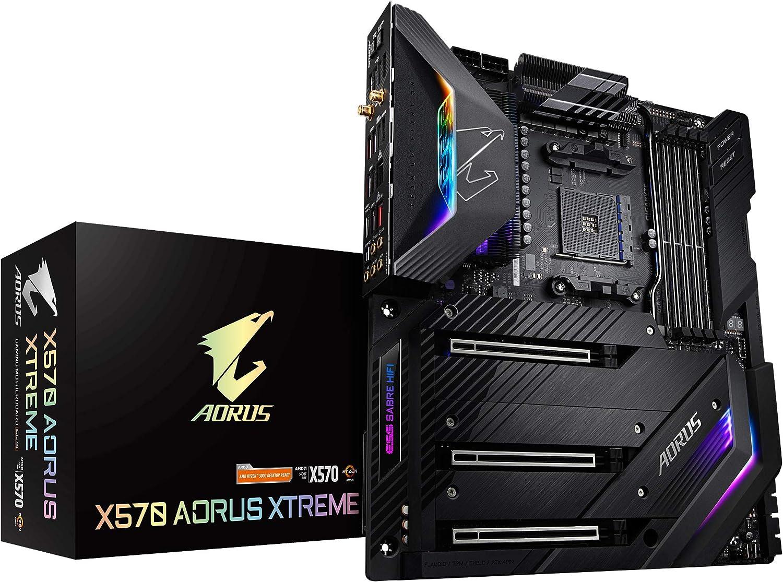 GIGABYTE X570 AORUS Xtreme (AMD Ryzen 3000/X570/E-ATX/PCIe4.0/DDR4/Aqantia 10GbE LAN/RGB Fusion 2.0/Fins-Array Heatsink/3xM.2 Thermal Guard/USB3.1/Gaming Motherboard)