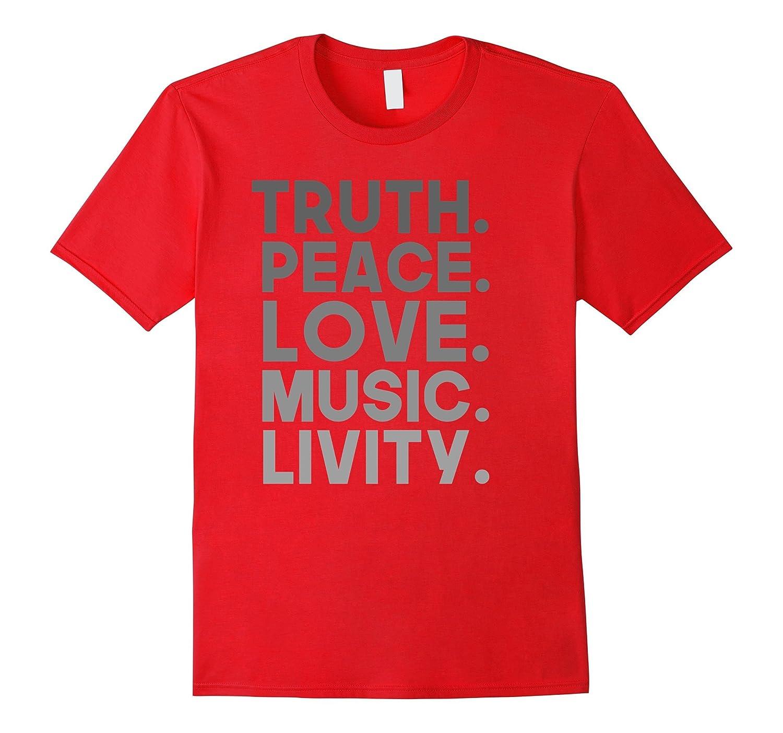 Truth Peace Love Music Livity Reggae Rasta T-shirt-Art