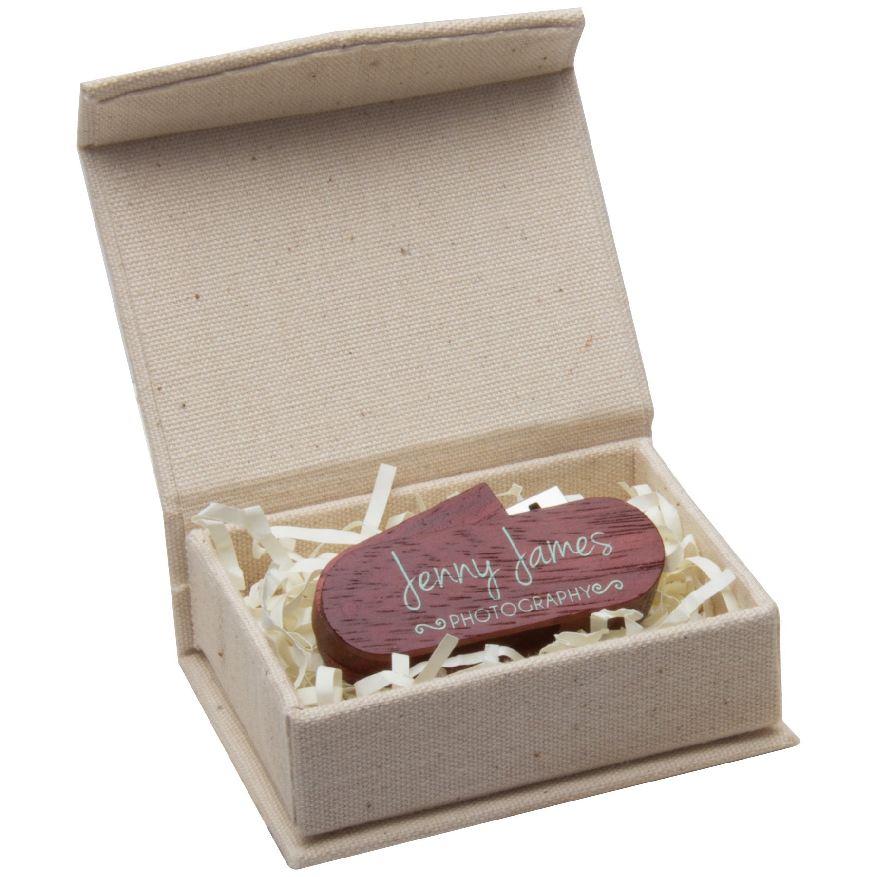 Small Linen Box for Flash Drive or Jewelry