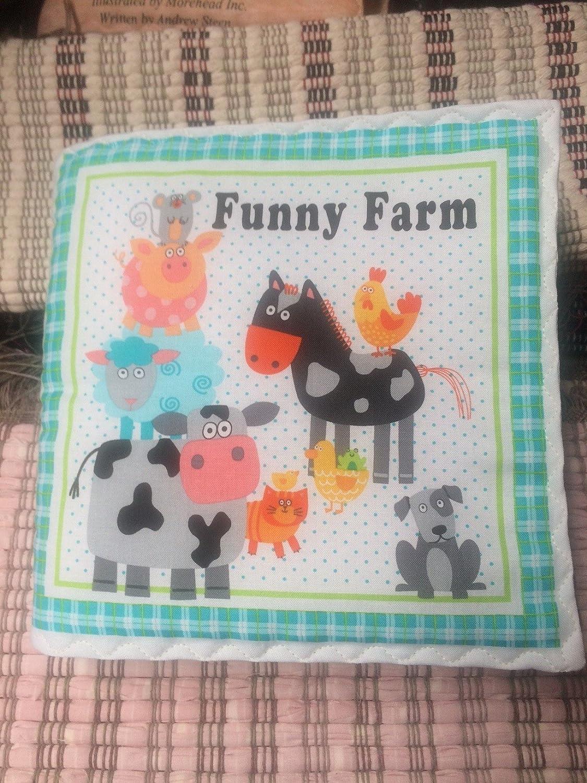 Amish Handmade Childrens Cloth Storybook Funny Farm
