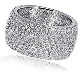Goldmaid Damen-Ring 925 Sterlingsilber 272 klare Zirkonia