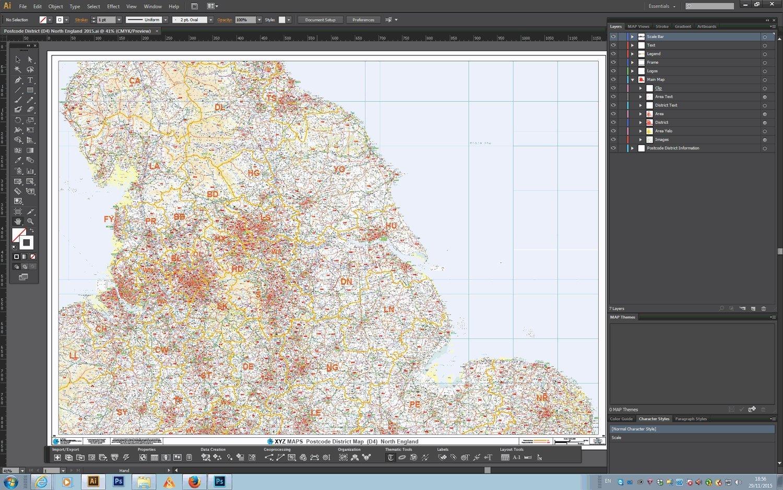 caad4c616fe XYZ Postcode District Map (D4) - North England - Editable GeoPDF: XYZ Maps:  Amazon.co.uk: Office Products