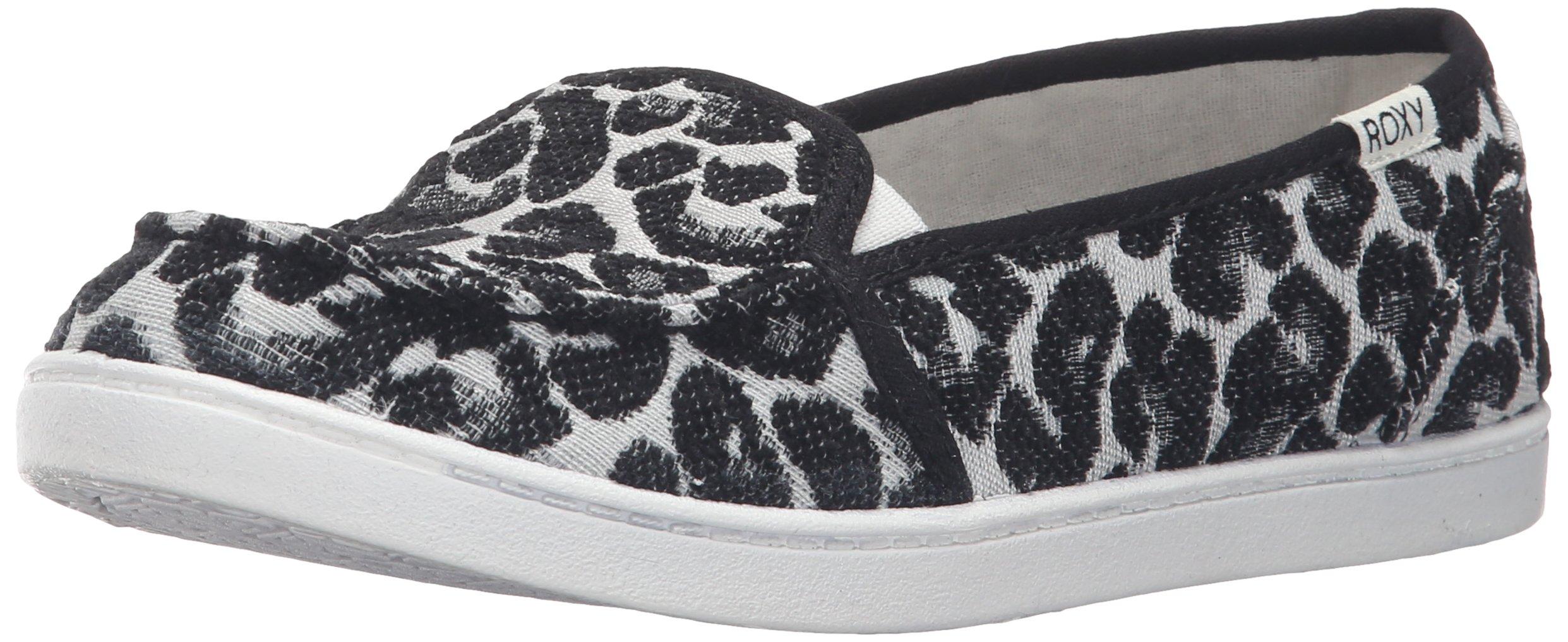 Roxy Women's Lido Iii Slip-on Shoes Flat, Black/Black/Dark Grey, 7 M US