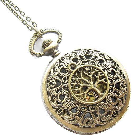 316l acero inoxidable colgante árbol de la vida Tree of Life oro plata Collar de cuero