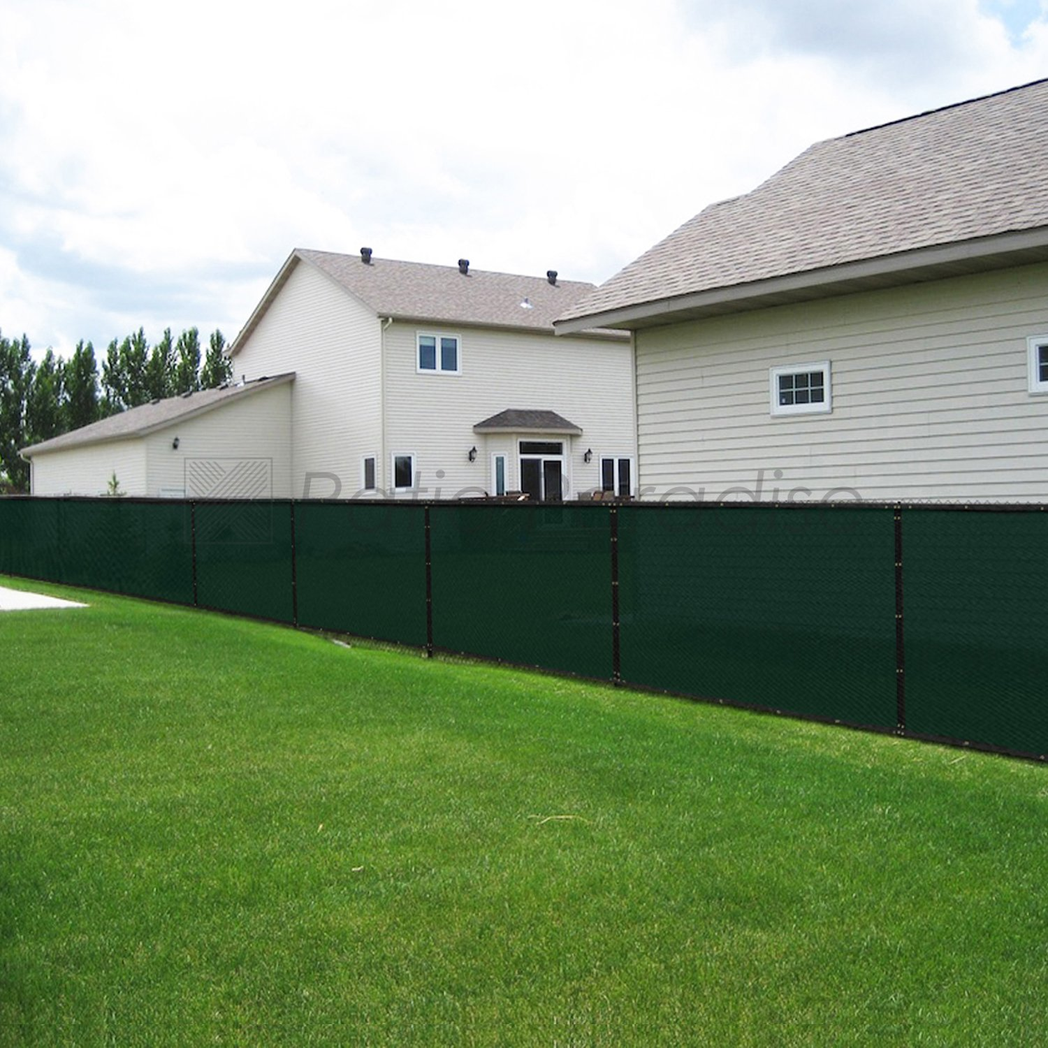 Patio Paradise 8' x 80' Dark Green Fence Privacy Screen, Commercial Outdoor Backyard Shade Windscreen Mesh Fabric with brass Gromment 85% Blockage- 3 Years Warranty (Customized Sizes Available) by Patio Paradise (Image #4)