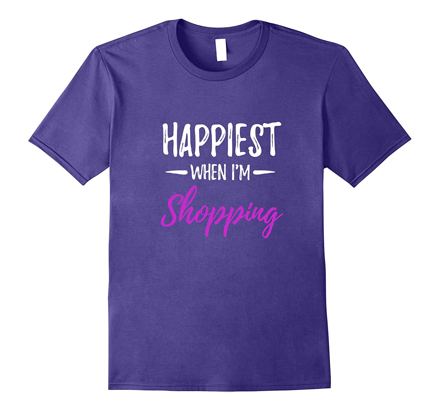 Womens Happiest Shopping T Shirt Shopper-Veotee