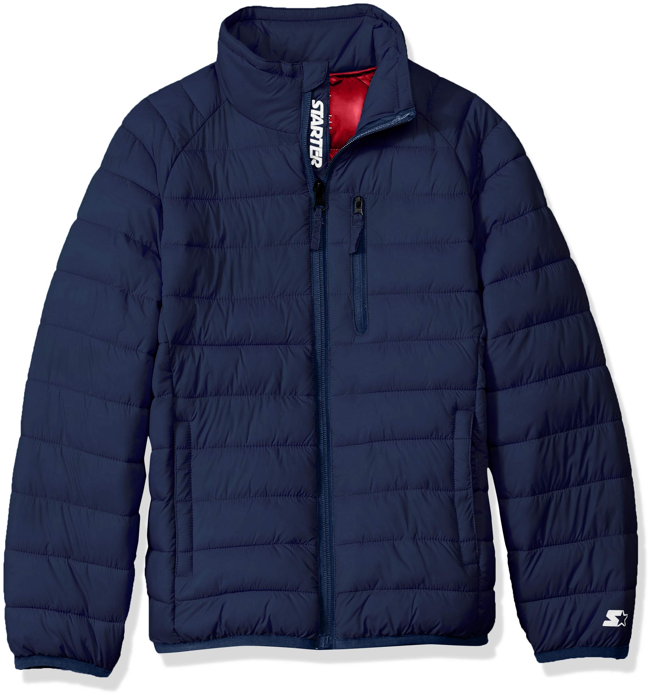 Starter Boys' Packable Puffer Jacket, Amazon Exclusive, Team Navy, XS