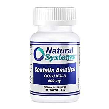 Natural Systems. Centella Asiatica Gotu Kola 500mg 60 capsules