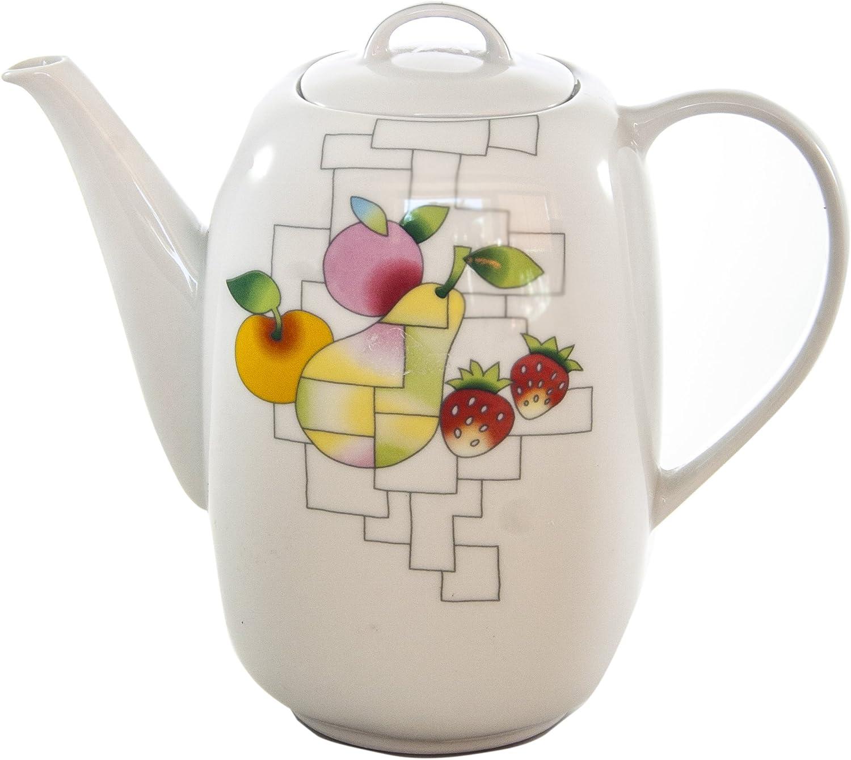 THUN Leon Puzzle Cafetera, Porcelana, Blanco, 12x12x26 cm: Amazon ...