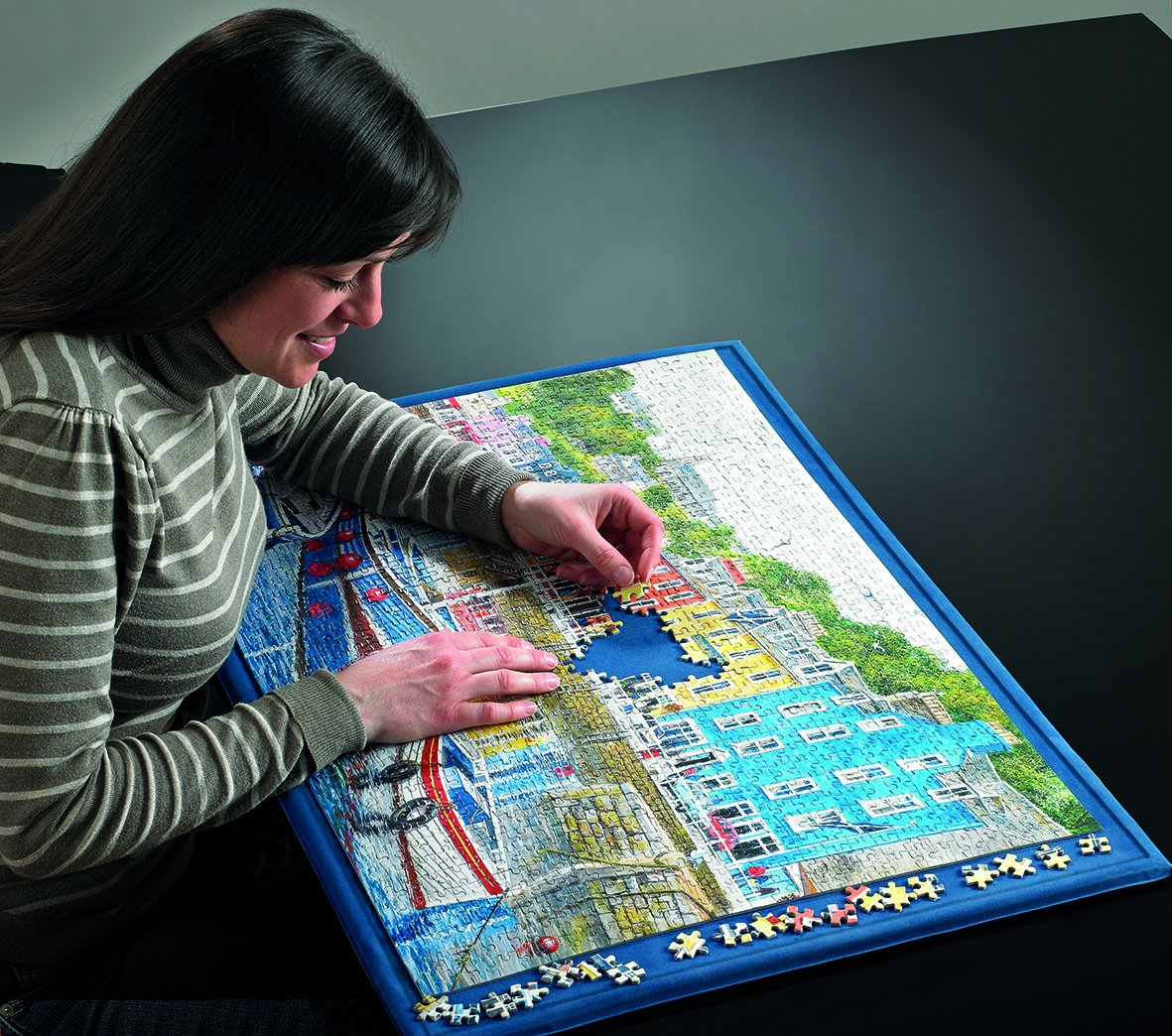The Puzzle Board by Gibsons can be worked on your lap