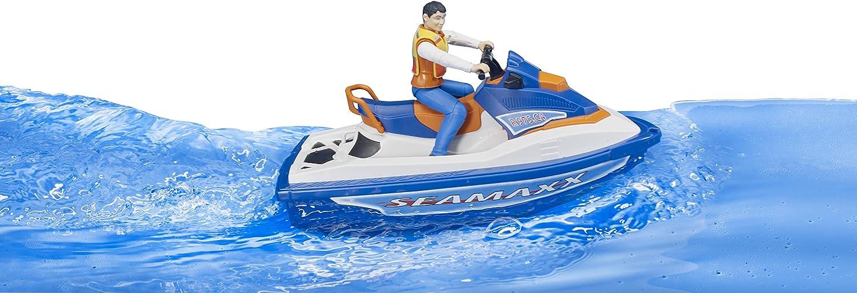 Bleu BRUDER Scooter de Mer avec Personnage 63150