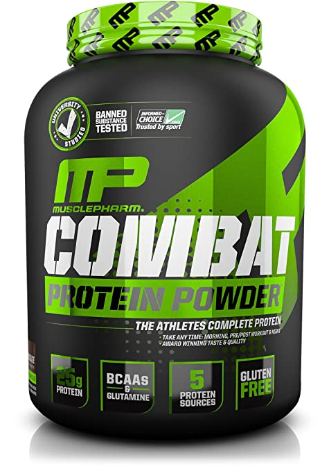 MusclePharm Combat Powder Advanced Time Release Protein, Chocolate Milk