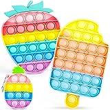 IDJWVU Pop Fidget Toy,Push Bubble Popper Sensory Toy,Pop on It Bulk Fidget Pack Autism Stress Reliever Squeeze Vent Restore E
