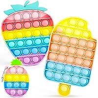 IDJWVU Pop Fidget Toy,Push Bubble Popper Sensory Toy,Pop on It Bulk Fidget Pack Autism Stress Reliever Squeeze Vent…