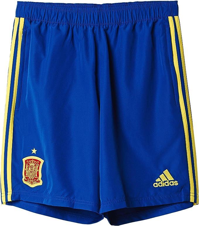 adidas Federación Española de fútbol Euro 2016 - Pantalón Corto de Entrenamiento, Color Azul/Amarillo, Talla 3XL: Amazon.es: Zapatos y complementos
