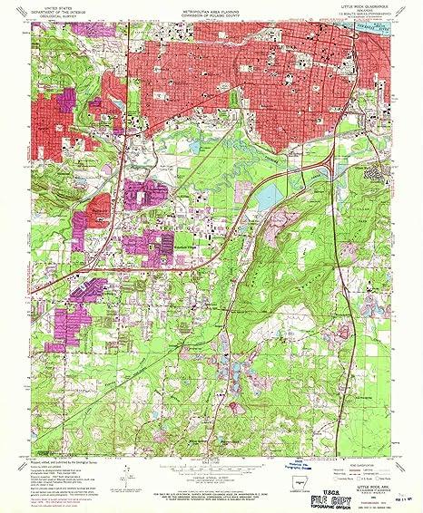 Amazon.com : YellowMaps Little Rock AR topo map, 1:24000 ...