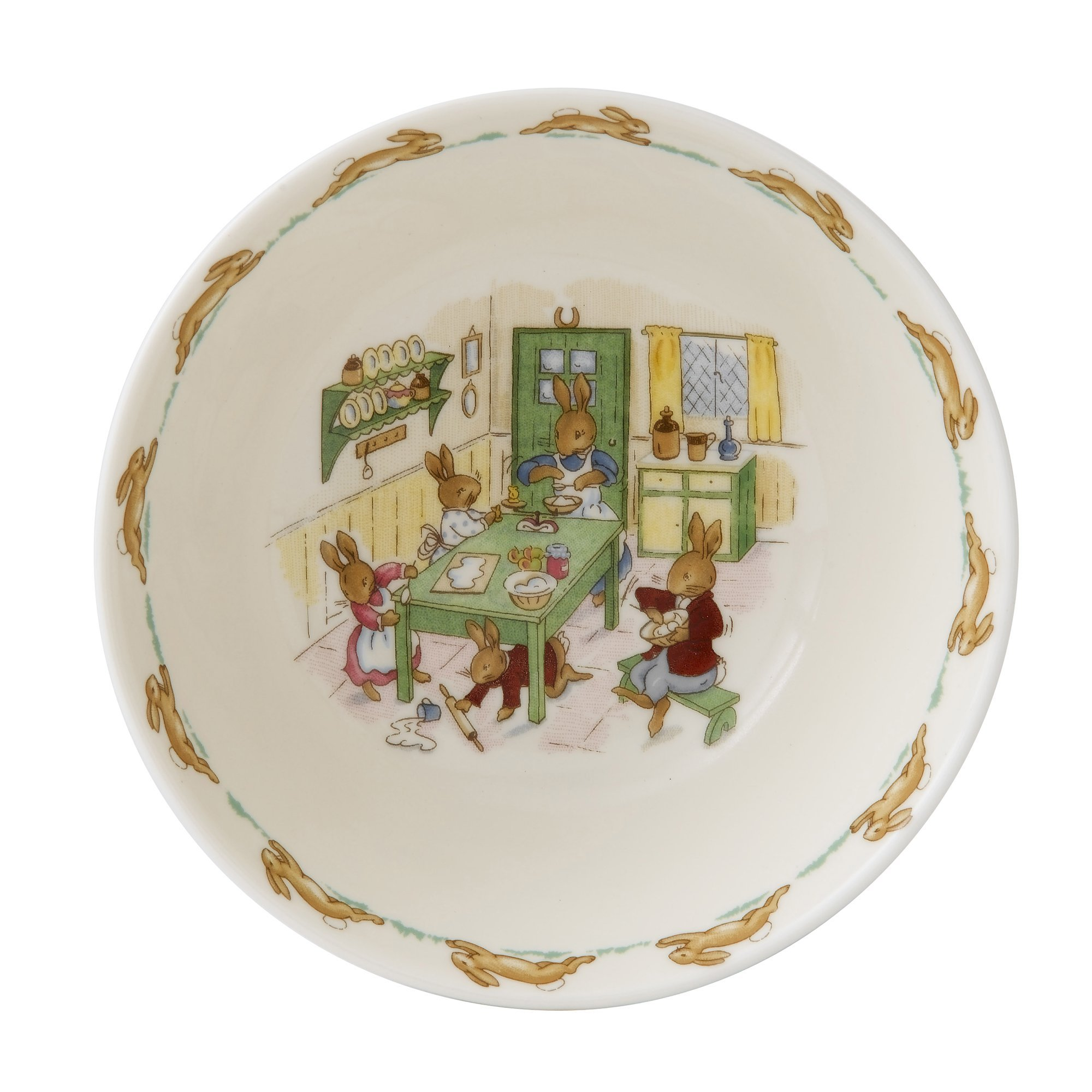 Royal Doulton Bunnykins Classic Nurseryware Cereal Bowl, Multicolored