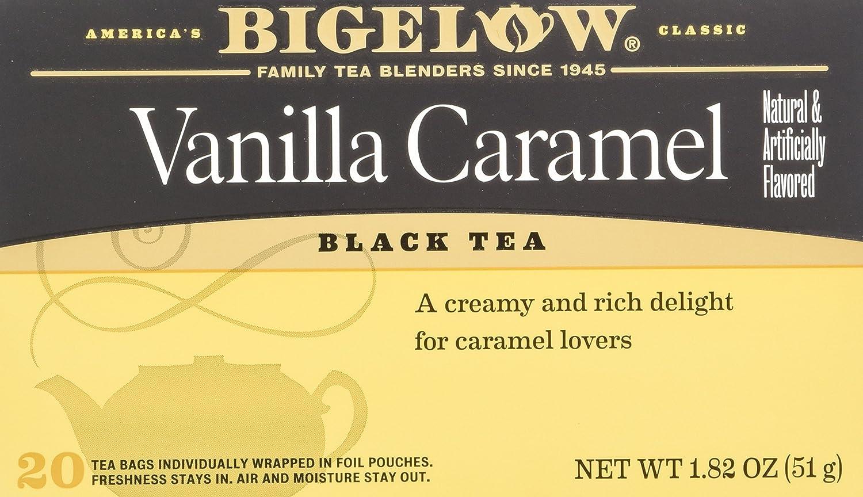 Bigelow Vanilla Caramel Tea (20 Tea Bags per box) (Pack of 4 boxes) Inc.