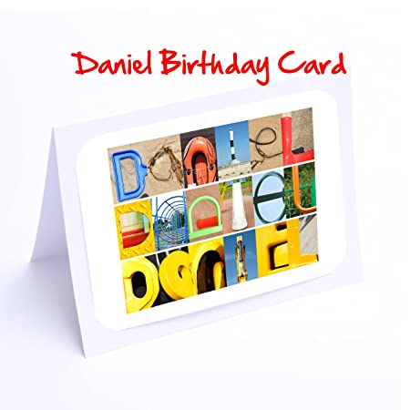 Personalised Cards Boys 7x5 Photo Greeting Card A K Names With FREE Delivery