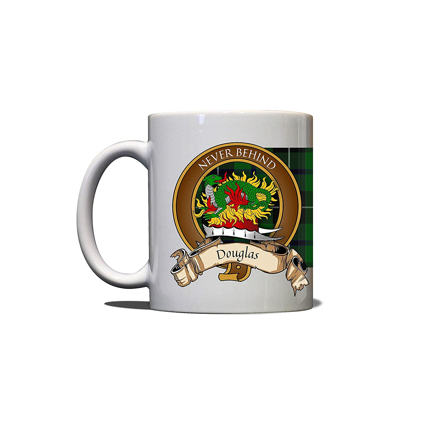 Douglas Scottish Clan Mug Tartan Crest Motto 11oz Mug