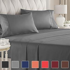 Split King Sheets for Adjustable Beds - Split King Adjustable Bed for Adjustable Mattress - Split King Sheet Sets For Adjustable Beds Deep Pocket - Deep Pocket Split King Sheets - Adjustable Sheets