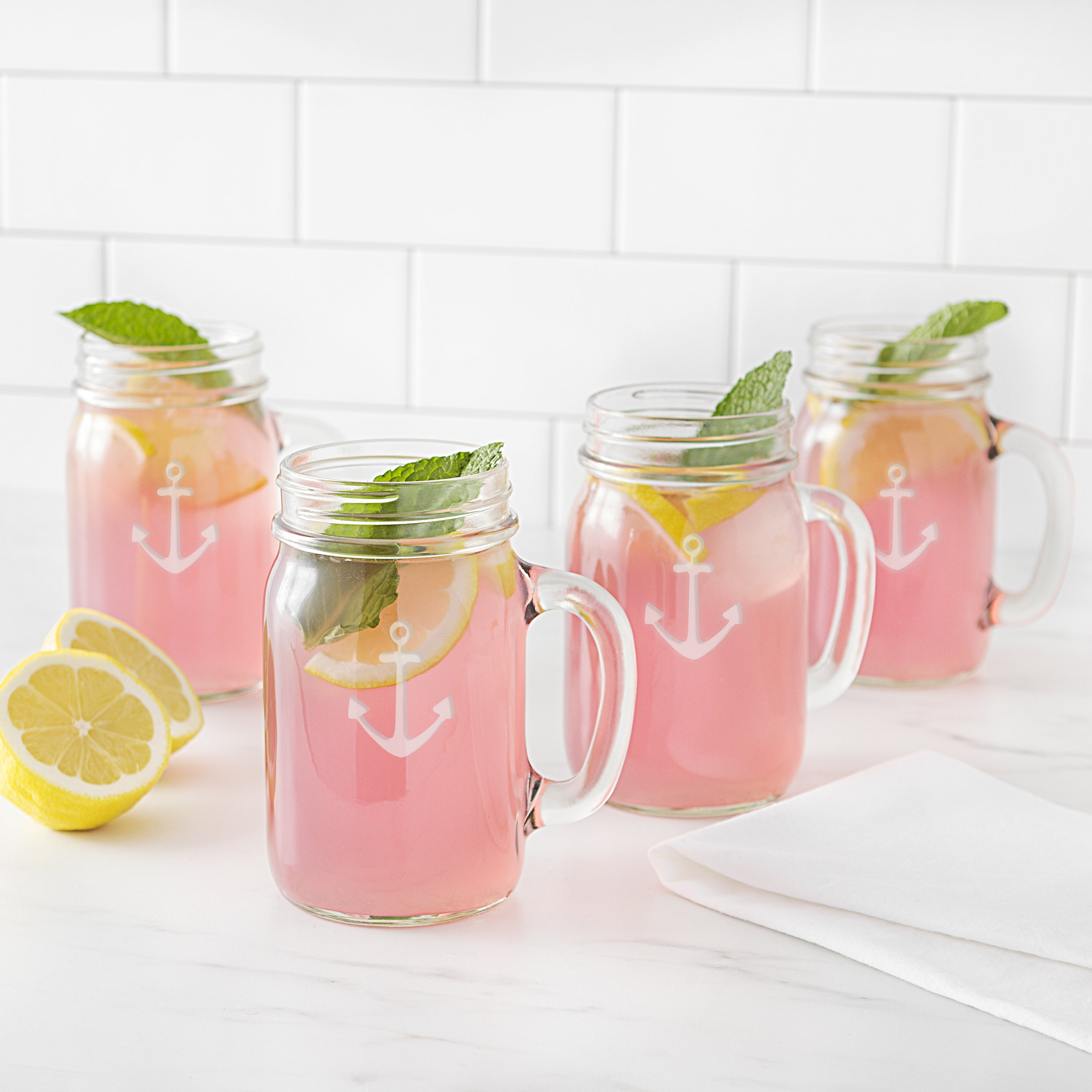 Cathy's Concepts CCA1190 Anchor Old Fashioned Drinking Jars Set Of 4 by Cathy's Concepts (Image #10)