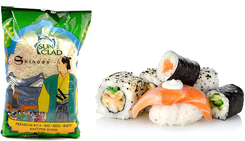 Shinode - Arroz De Sushi Japones De Grano Medio 1 Kg: Amazon.es ...