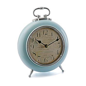 LTMB Reloj Mesa Azul 21cm 21x7.5x28 Ø21: Amazon.es: Hogar