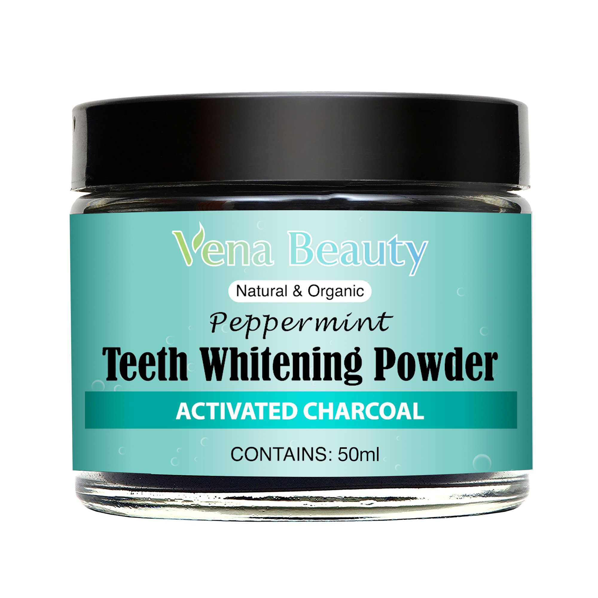 Natural Teeth Whitening Powder - Made with Organic Bamboo Activated Charcoal and Food Grade Formula –for Sensitive Teeth and Healthy Whitener (30ml) by Gemmaz (Image #2)