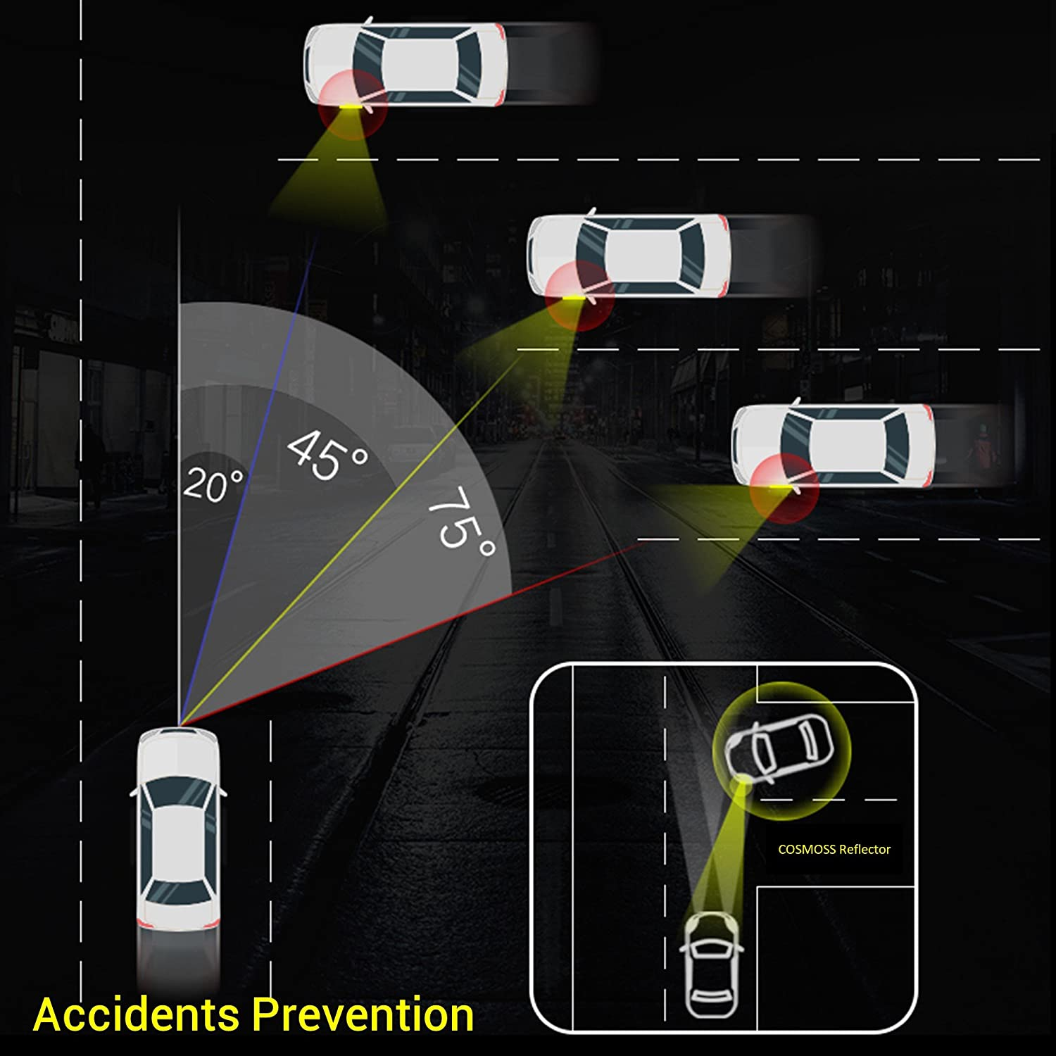 Blue, 5.5-in x 0.9-in Reflective Tape Caution Warning Safety Reflector Strips Sticker Fluorescent Waterproof Reflective Car Decals for Automobile Car Pickup Truck SUV RV Boat Motorbike Helmet 4pcs