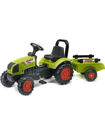 Falk Claas Arion 410 + Trailer Pedal Tractor - Juguetes de Montar (420 mm,