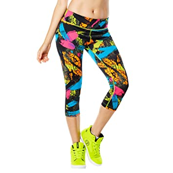 Zumba Fitness® Da Funk Perfect Capri Leggings - Pantalón para Mujer, Color Verde, Talla XXL: Amazon.es: Deportes y aire libre