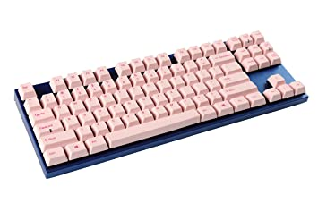 varmilo 87 Clave Cherry MX interruptores PBT Keycaps Gaming Teclado mecánico pink keycap red switch