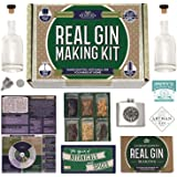 Real Homemade Gin Kit & Stainless Steel Personalized Flask, For Making Delicious Martinis, Gin and Tonics, Spirits…