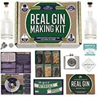 Homemade Gin Kit + Flask - (14-Piece Brewing Set) for Making Delicious Martinis Gin and Tonics Spirits & Cocktails at…