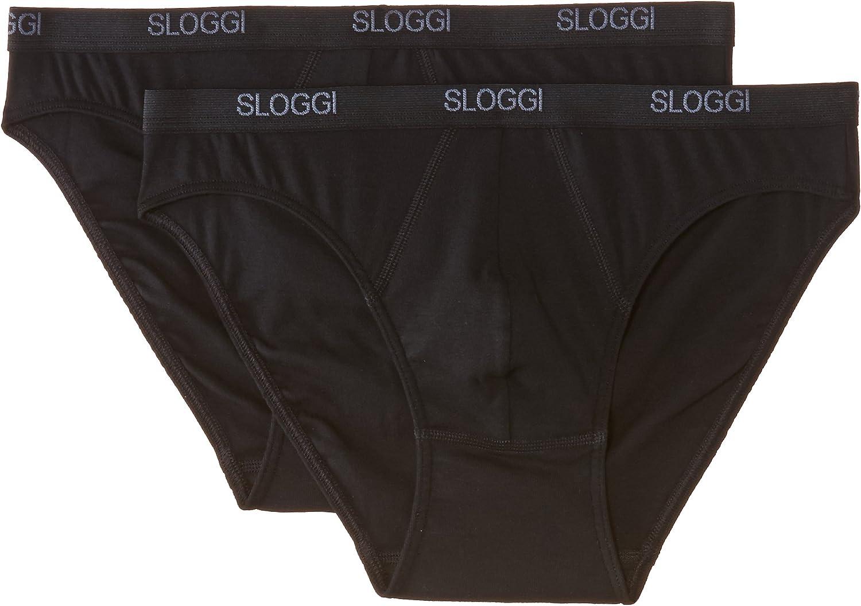 Sloggi Mens Basic Mini Black 2 Pack