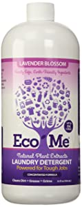 Eco Me Natural Non-Toxic Concentrated Liquid Laundry Detergent, Healthy Lavender Blossom Scent, 32 Ounce