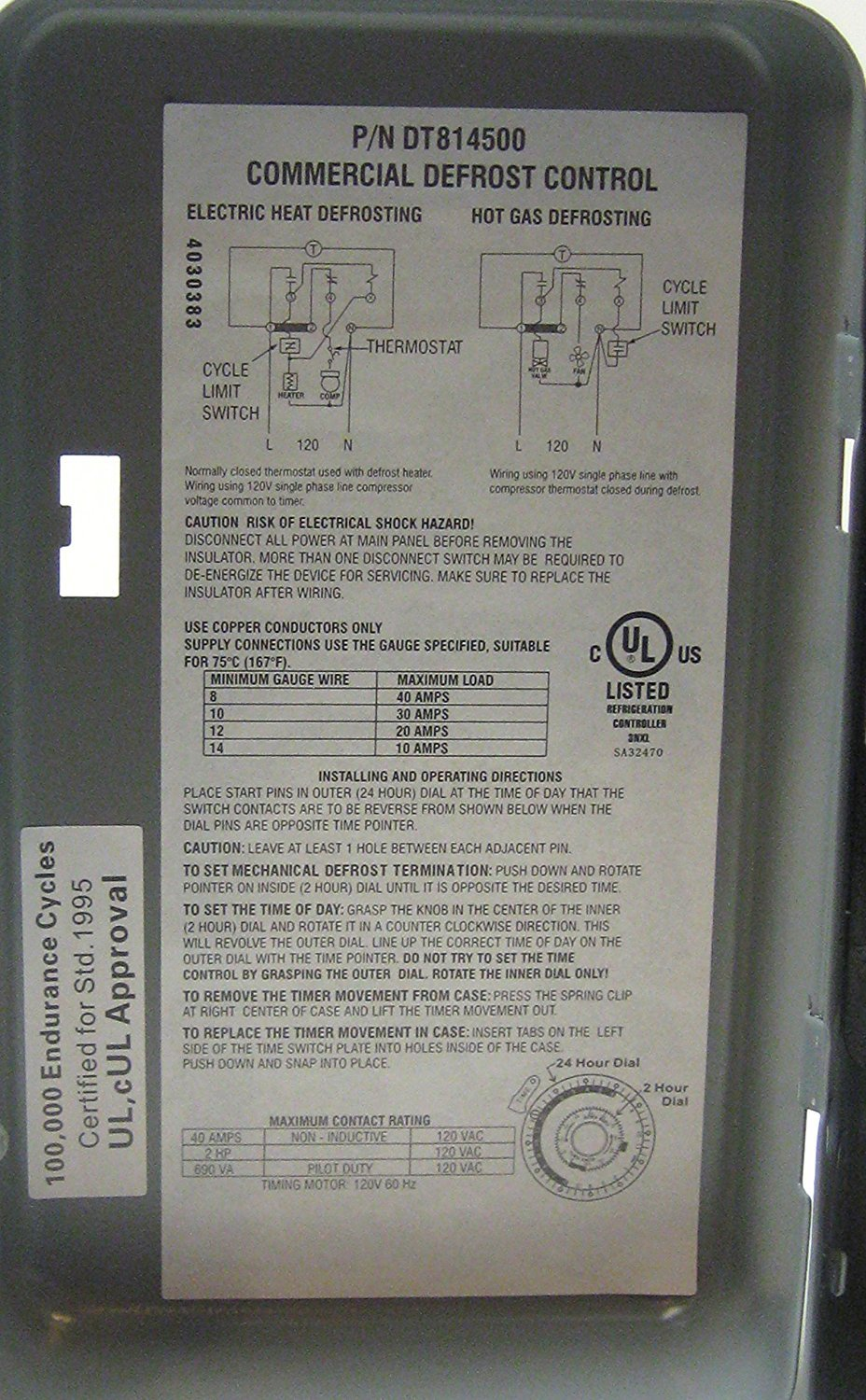 Defrost Timer 8141 20 Wiring - Trusted Wiring Diagram •