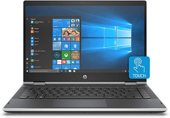 "HP Pavilion x360 2-in-1 14"" Laptop Intel Core i3 8GB SDRAM 128GB SSD Ash Silver Keyboard Frame, Natural Silver"