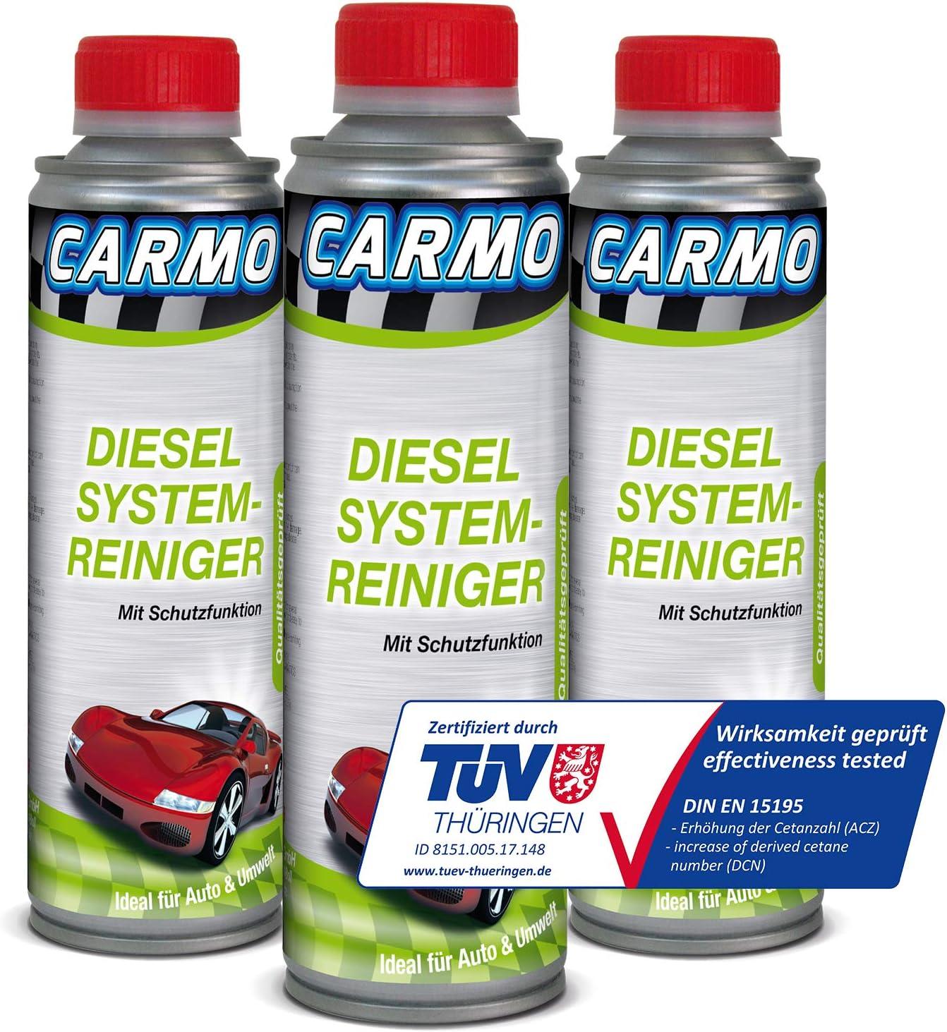 Carmo 3x Diesel System Reiniger Einspritzsystem Reiniger Injektor Reiniger Diesel Additiv Korrosionsschutz TÜv Geprüft 250 Ml Dose Auto